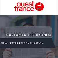 Ouest-France, + 40% of sessions generated with personalized newsletters